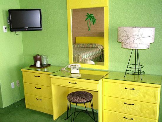 1950s midcentury modern Caribbean Motel in Wildwood Crest, New Jersey, USA