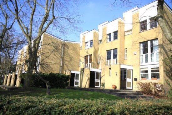 1960s three-storey Eric Lyons-designed Span house on the Cator Estate, Blackheath, London SE3