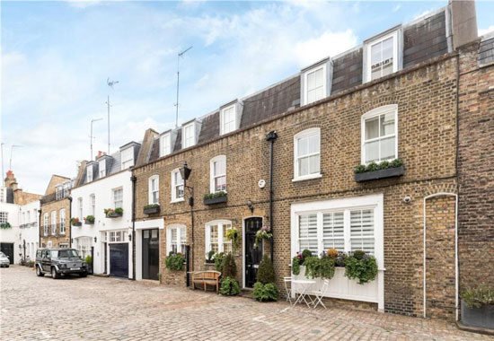 On the market: Michael Caine's former 1960s mews home in Hyde Park, London W2