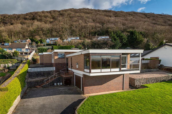 1970s modern house in Prestatyn, Denbighshire, North Wales