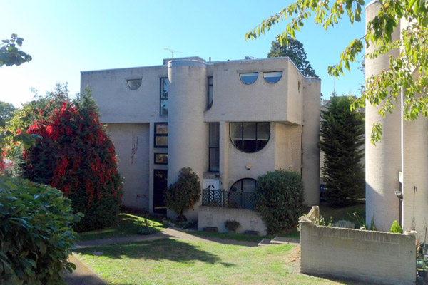 1960s Lawrence Abbott brutalist house in Frimley, Surrey