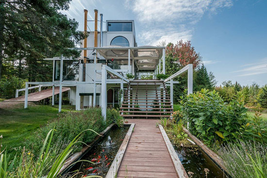 1970s Jacques de Blois modernist property in Saint-Damase-de-L'Islet, Quebec, Canada