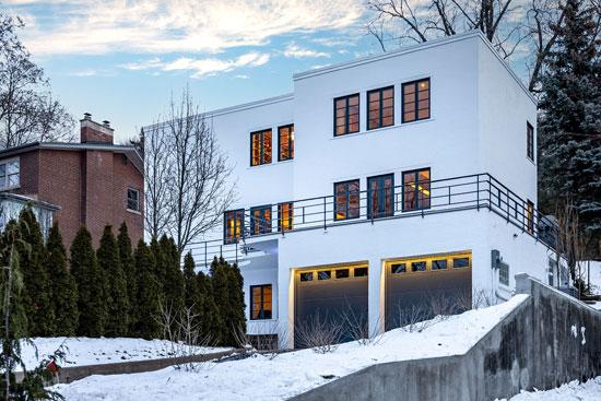 1930s art deco Hale House in Hamilton, Ontario, Canada