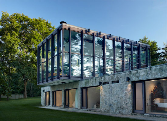 1950s Philip Johnson-designed Wiley House in New Canaan, Connecticut, USA
