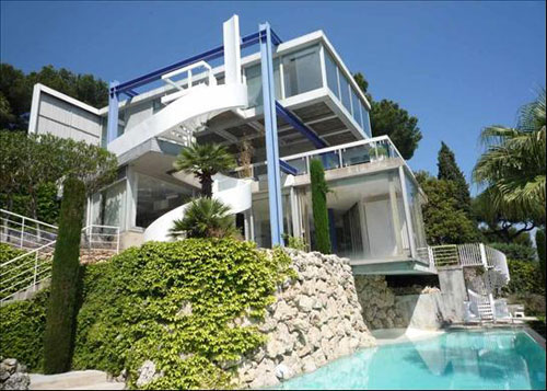 on the market 1960s claude parent designed villa ex in cap d 39 antibes south of france wowhaus. Black Bedroom Furniture Sets. Home Design Ideas