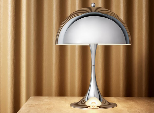 Verner Panton Panthella Mini lamp back in chrome