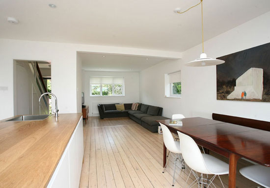 On the market: 1960s Child Brothers-designed three-bedroom townhouse in Whitstable, Kent