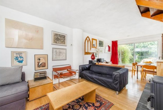 In need of renovation: Three-bedroom terraced property in the Chamberlin, Powell and Bon-designed Vanbrugh Park Estate, London SE3