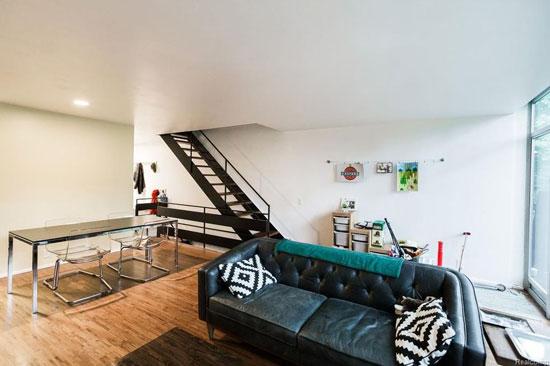 1950s Mies van der Rohe-designed modernist townhouse in Detroit, Michigan, USA