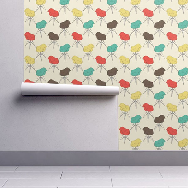 Retro walls: Eames Armchair wallpaper by Marketa Stengl