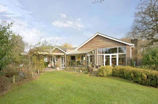 1960s architect-designed Kintail Lodge house in Westhampnett, Chichester, West Sussex