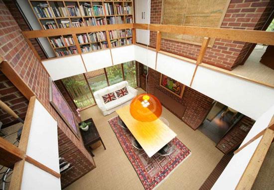 1970s Anthony Goddard and Donald Manton-designed Tapiola house in Chislehurst, Kent
