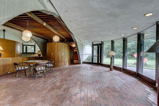 1960s circular time capsule house in Hartford, Wisconsin, USA