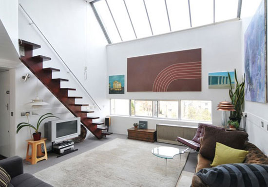 On the market: One bedroom duplex apartment in Georgie Wolton-designed Cliff Road Studios, London NW1
