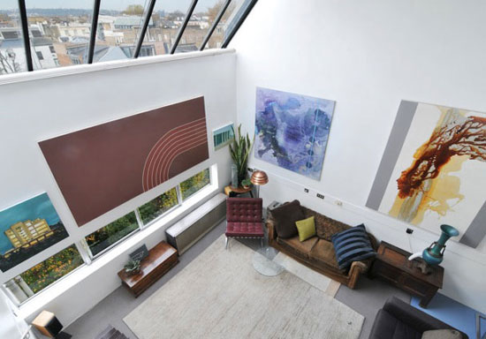 One bedroom duplex apartment in Georgie Wolton-designed Cliff Road Studios, London NW1