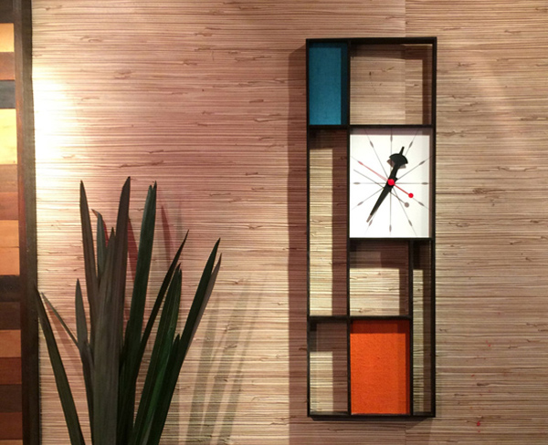 Midcentury-style wall clocks by Jetset Retro