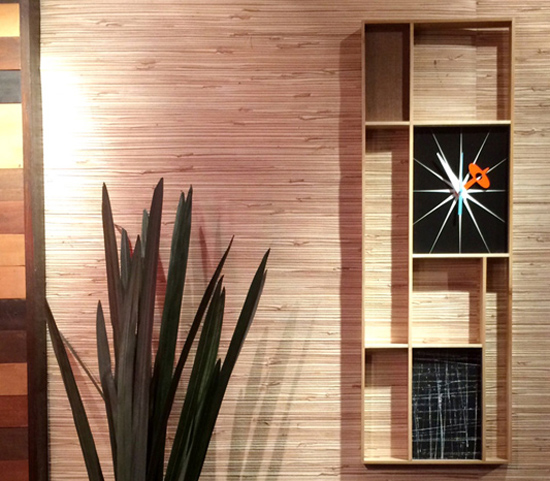 Midcentury-style wall clocks by Jetset Retro