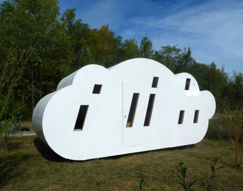 Le Nuage by Zebra3 - the cloud-shaped house