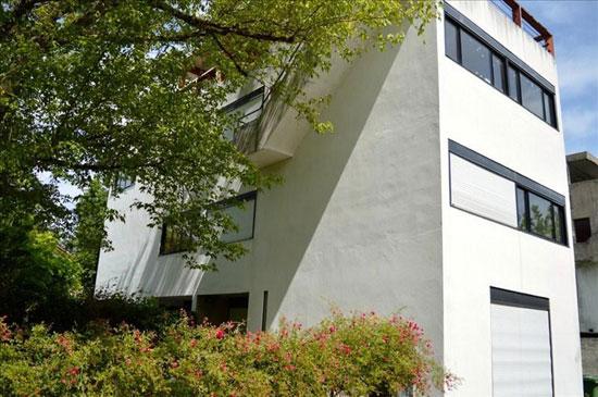 1920s Le Corbusier-designed Cité Frugès property in Pessac, Aquitaine, south-west France