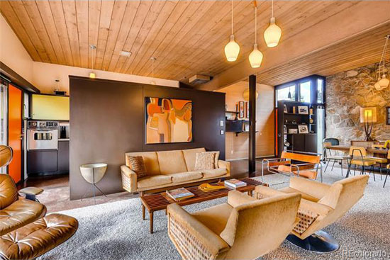 Time capsule for sale: 1950s Edward Hawkins-designed midcentury modern property in Littleton, Colorado, USA