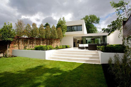 Ava House contemporary modernist property in Coombe Hill Road, Kingston Upon Thames, Surrey