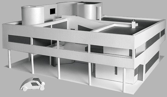 Build Le Corbusier's Villa Savoye modernist house – out of cardboard