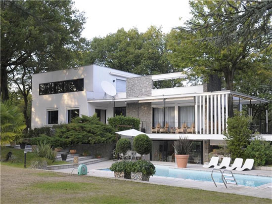 Le Corbusier House in Tassin-la-Demi-Lune, near Lyon, eastern France
