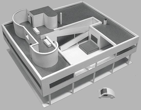 Le Corbusier's Villa Savoye modernist house