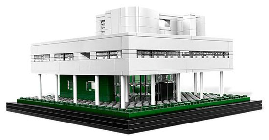 Le Corbusier's Villa Savoye modernist house now available as a Lego Architecture set