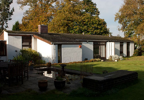 On the market: 1960s Rex Johnson-designed four bedroomed house in Crouch. near Sevenoaks, Kent