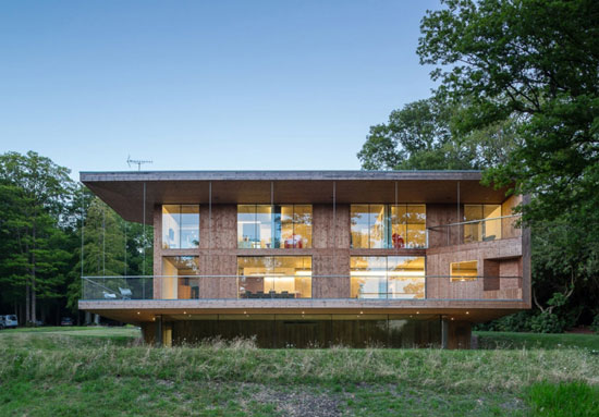 Piers Smerin-designed contemporary modernist property in Crowborough, East Sussex
