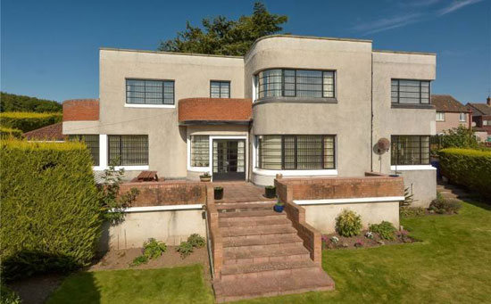 Fairbank 1930s art deco property in Cupar, Fife, Scotland