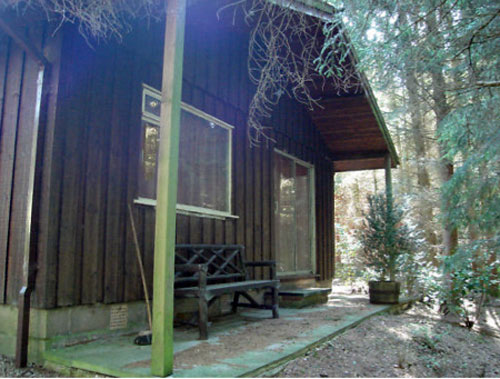 Two-bedroomed woodland holiday lodge in Cumbria