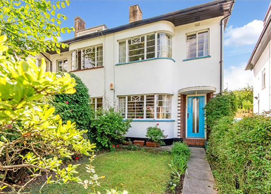 1930s semi-detached art deco-style property in Belsize Park, London NW3