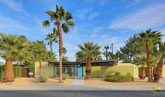 1960s Donald Wexler-designed midcentury modern property in Palm Springs, California, USA