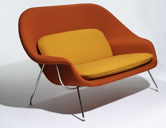 Eero Saarinen's 1940s Womb sofa goes back into production