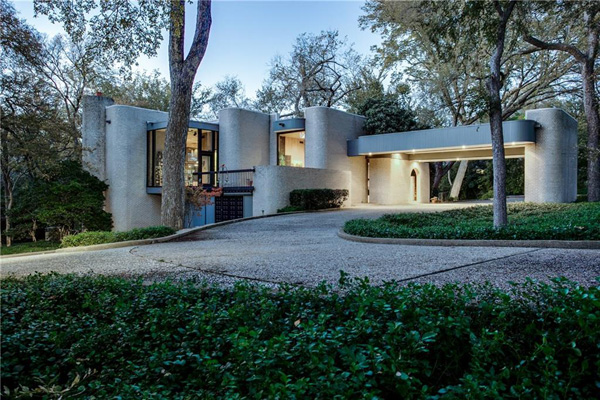 1970s modernism: Four-bedroom property in Dallas, Texas, USA