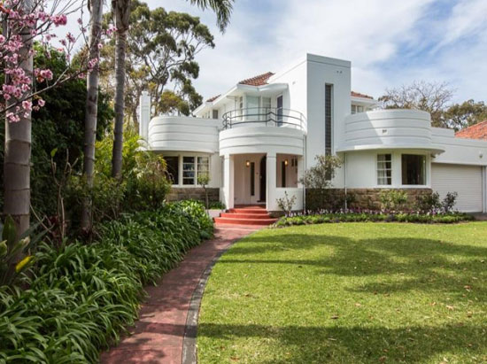 On the market: 1930s Oswald Chisolm-designed Chisolm House art deco property in Dalkeith, Western Australia