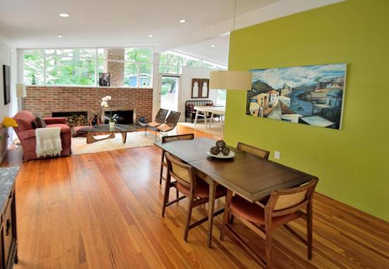 1950s midcentury modern property in Alexandria, Virginia, USA