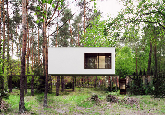 Izabelin Mirror House by REFORM Architekts