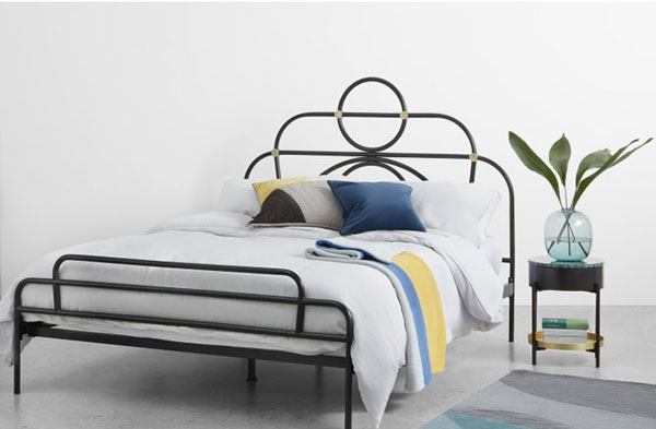 Anthea art deco-style bed arrives at Made