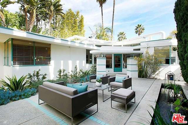 1930s art deco: William Kesling-designed property in West Hollywood, Los Angeles, California, USA
