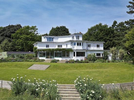 1930s Hilda Mason-designed Kings Knoll art deco property in Woodbridge, Suffolk