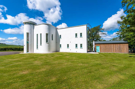 Wester Waterlair art deco-style property in Fordoun, Aberdeenshire, Scotland