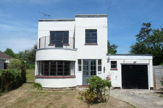 1930s art deco-style property in Elmer, West Sussex