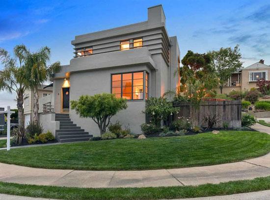 1930s art deco property in Oakland, California, USA