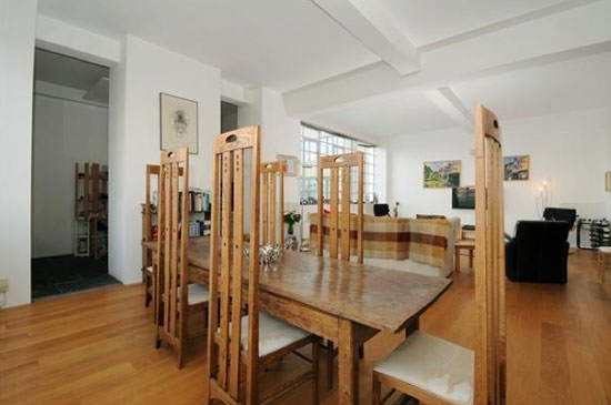 Three-bedroom apartment in the 1930s Wallis, Gilbert and Partners-designed Alaska Building in London SE1