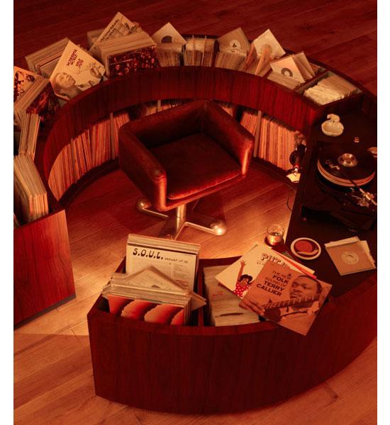 PlattenKreisel circular vinyl storage units