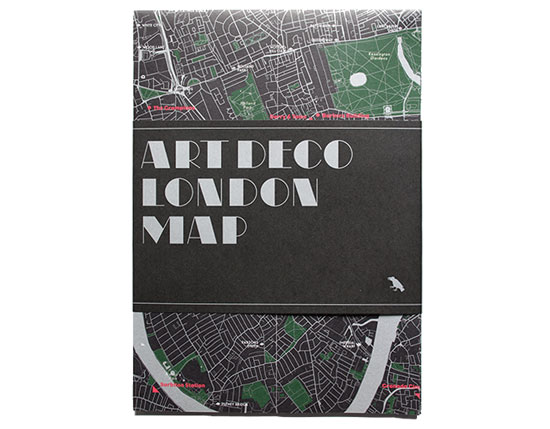 The Art Deco London Map by Blue Crow Media