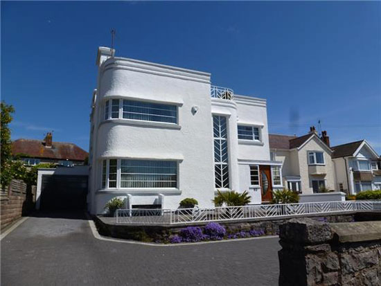On the market: 1930s four-bedroom art deco property in Penrhyn Bay, Llandudno, Conwy, North Wales